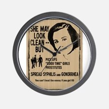 She May Be Clean Wall Clock