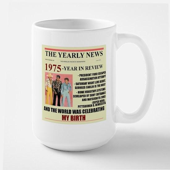 born in 1975 birthday gift Large Mug