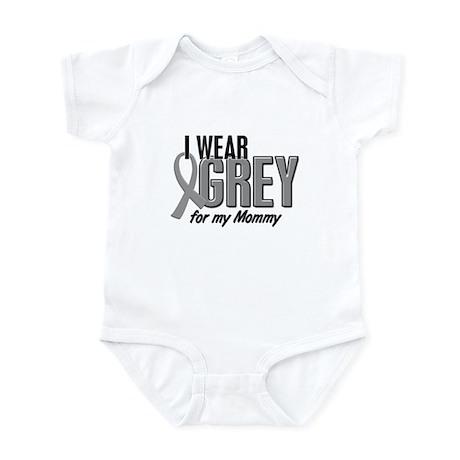 I Wear Grey For My Mommy 10 Infant Bodysuit