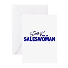 Trust Me I'm a Saleswoman Greeting Cards (Pk of 10