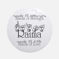 Hands of Strength/Hands of Lo Ornament (Round)