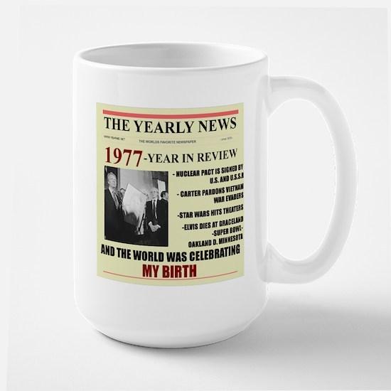 born in 1977 birthday gift Large Mug