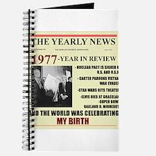 born in 1977 birthday gift Journal