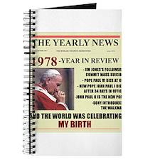 born in 1978 birthday gift Journal