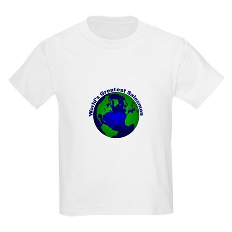 World's Greatest Salesman Kids Light T-Shirt