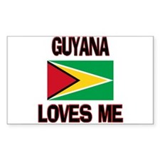 Guyana Loves Me Rectangle Decal