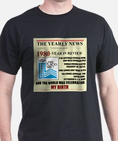 born in 1980 birthday gift T-Shirt