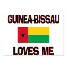 Guinea-Bissau Loves Me Postcards (Package of 8)