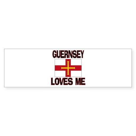 Guernsey Loves Me Bumper Sticker