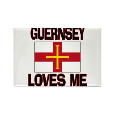 Guernsey Loves Me Rectangle Magnet (10 pack)