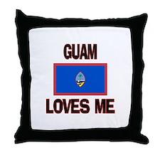 Guam Loves Me Throw Pillow