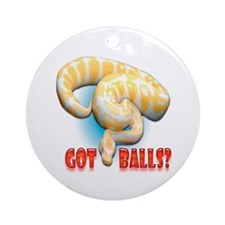ALBINO PYTHON GOT BALLS Ornament (Round)