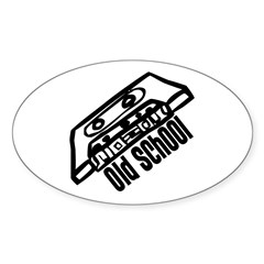 Old School Cassette Oval Decal