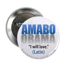 AMABO (I will love) Barack Obama election button