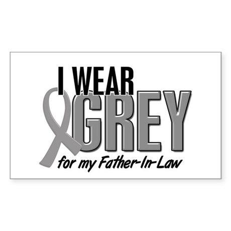 I Wear Grey For My Father-In-Law 10 Sticker (Recta
