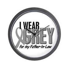 I Wear Grey For My Father-In-Law 10 Wall Clock