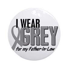 I Wear Grey For My Father-In-Law 10 Ornament (Roun