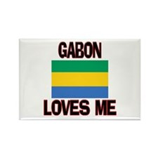 Gabon Loves Me Rectangle Magnet