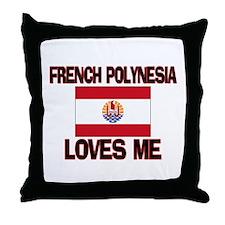 French Polynesia Loves Me Throw Pillow