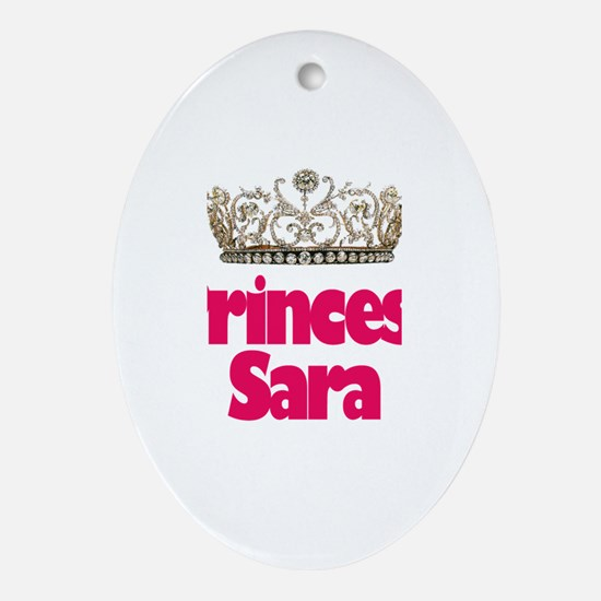 Princess Sara Oval Ornament