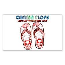 Obama flip flops Rectangle Decal