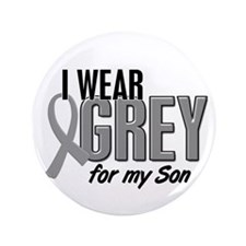 "I Wear Grey For My Son 10 3.5"" Button (100 pack)"