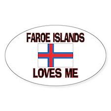 Faroe Islands Loves Me Oval Decal