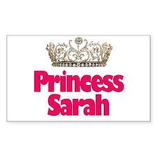 Princess Sarah Rectangle Decal