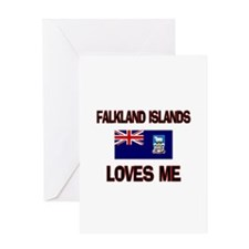 Falkland Islands Loves Me Greeting Card