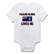Falkland Islands Loves Me Infant Bodysuit