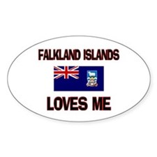 Falkland Islands Loves Me Oval Decal