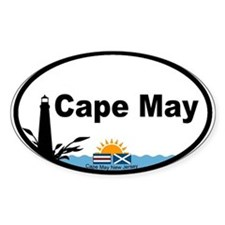 Cape May Lighthouse Oval Decal