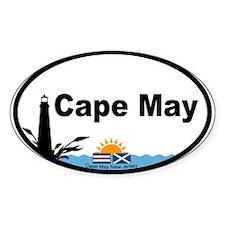 Cape May Lighthouse Oval Sticker (10 pk)