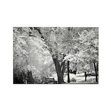 """Garden Bench"" Rectangle Magnet (10 pack)"