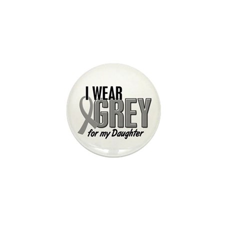 I Wear Grey For My Daughter 10 Mini Button