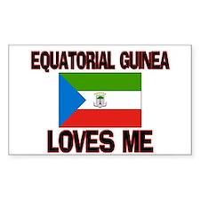 Equatorial Guinea Loves Me Rectangle Decal