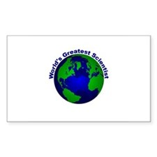 World's Greatest Scientist Rectangle Decal