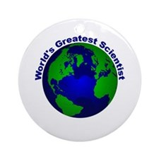 World's Greatest Scientist Ornament (Round)
