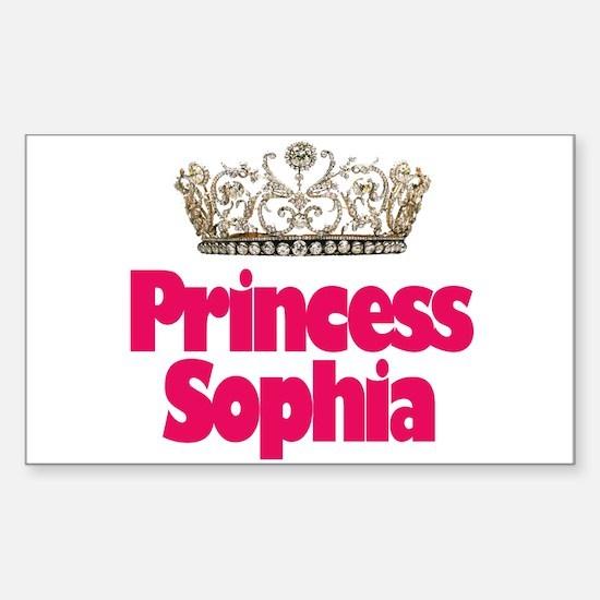 Princess Sophia Rectangle Decal