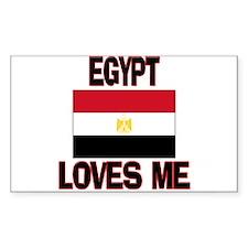 Egypt Loves Me Rectangle Decal