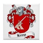 Kemp Family Crest Tile Coaster
