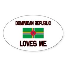 Dominican Republic Loves Me Oval Decal