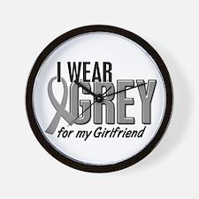 I Wear Grey For My Girlfriend 10 Wall Clock