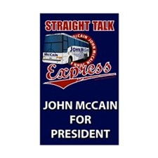 Straight Talk Express Rectangle Decal