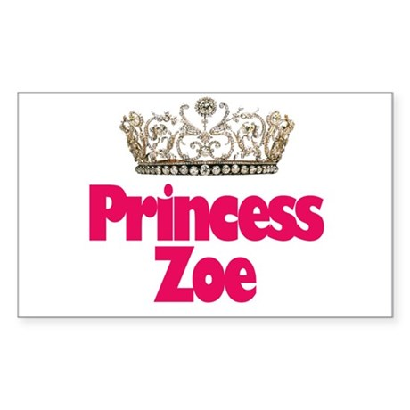 Princess Zoe Rectangle Sticker
