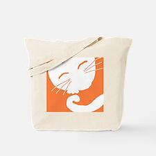 Orange Sleepy Cat Tote Bag