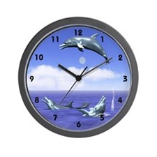 Dolphin Jump Daytime Wall Clock