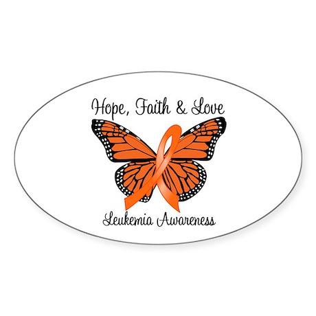 Leukemia Hope Oval Sticker (10 pk)