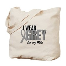 I Wear Grey For My Wife 10 Tote Bag