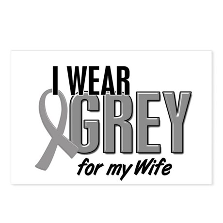 I Wear Grey For My Wife 10 Postcards (Package of 8